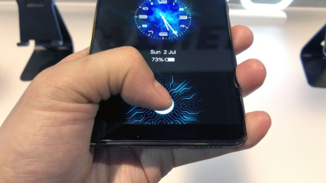 vivo in-display fingerprint smartphone