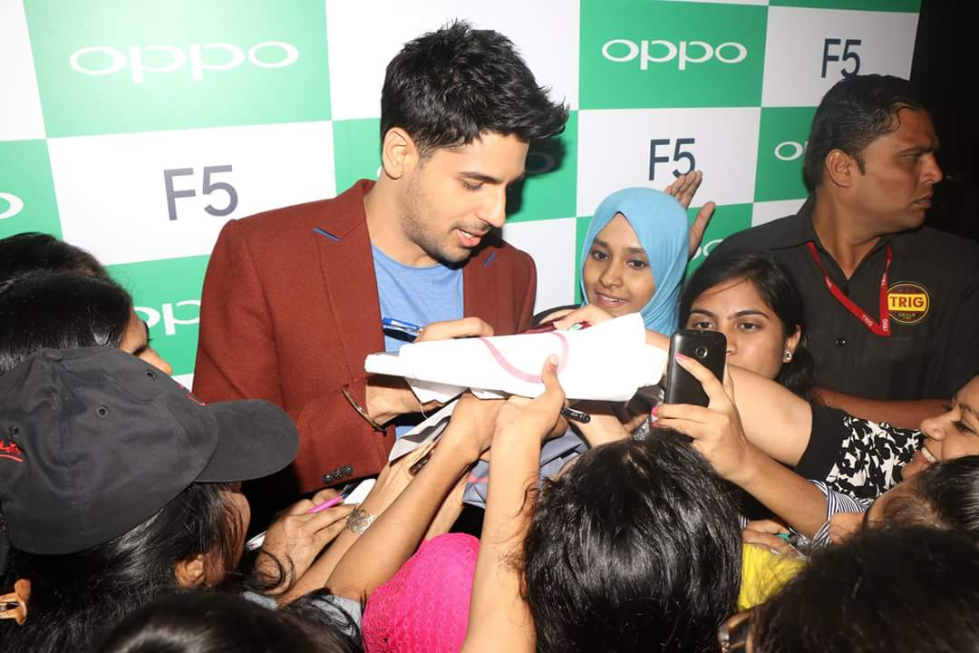 Sidharth at OPPO F5 launch